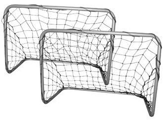 Voetbaldoeltjes - Voetbalgoaltjes Set - 78 x 56 x 45 cm - Grijs