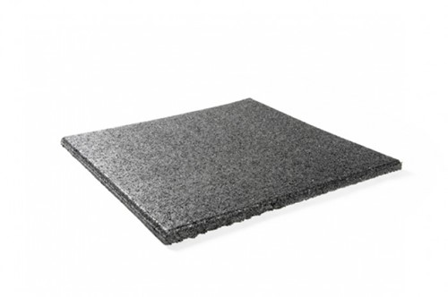Rubberen vloertegel 100 x 100 x 2,5 cm