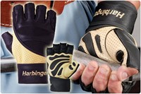 Harbinger 1205 Big Grip Wristwrap gloves-2