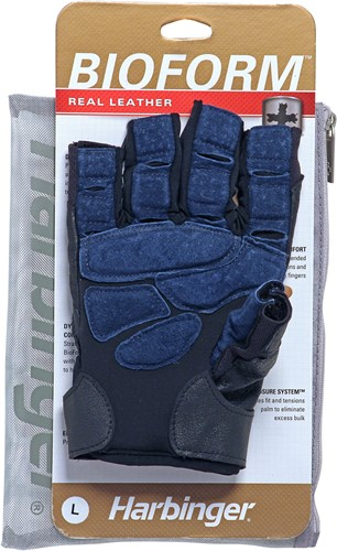 Harbinger BioForm Fitness Handschoenen - Black/Blue-2