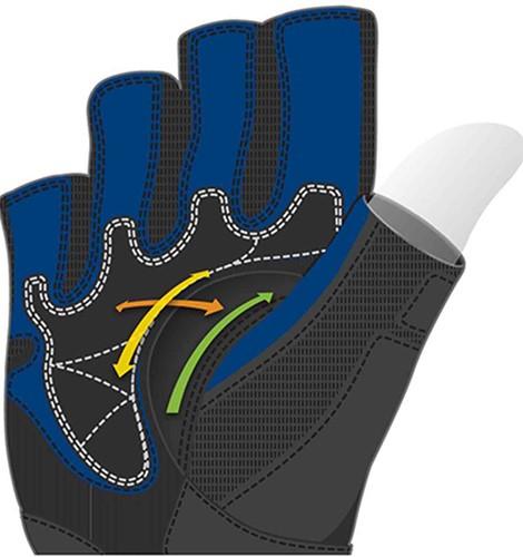 Harbinger BioFlex WristWrap Fitness Handschoenen - Black/Blue-2