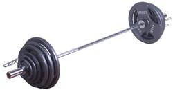 Tunturi 140 kg Olympische Tri-Grip Barbell Set