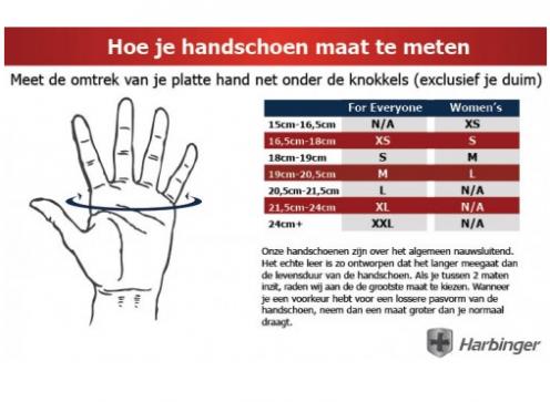 Harbinger Power StretchBack 2 Fitness Handschoenen - S
