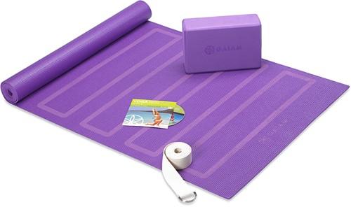 Gaiam Yoga Beginners Kit - Paars