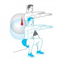 Fitnessbal Blauw-2