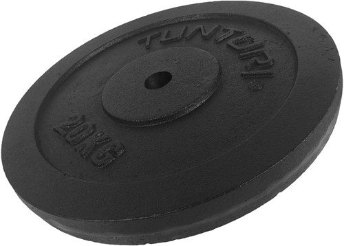Tunturi Gietijzeren Halterschijf - 30 mm - 20 kg