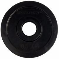 Tunturi Rubber schijf 0.5 kg (30 mm) 2 stuks-2