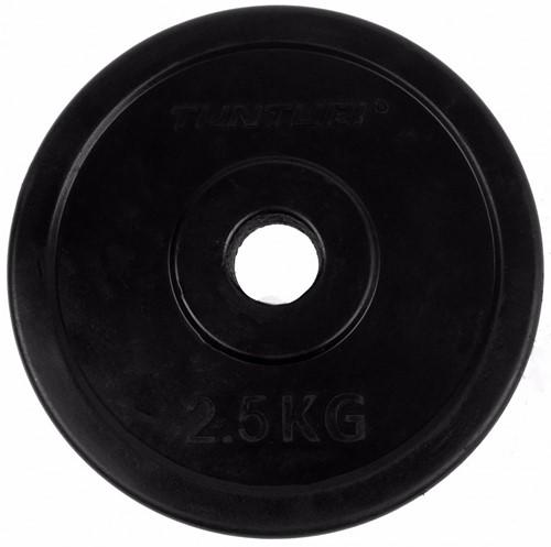 Tunturi Rubber schijf 2.5 kg (30 mm) 2 stuks-2