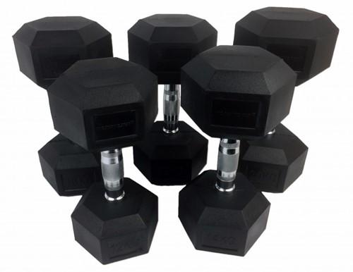 Tunturi Hexa Dumbbellset - 12-20 kg (160 kg)