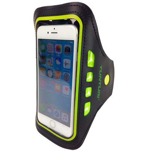 Tunturi LED Telefoon Sport Armband - Geel