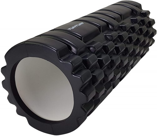 Tunturi Yoga Foam Grid Roller - 33 cm - Zwart
