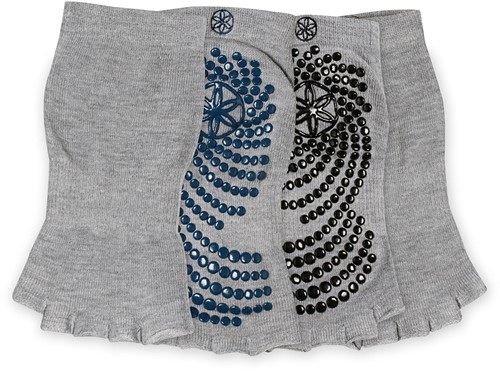 Gaiam Grippy Toeless Yoga Socks - Anti-slip Yogasokken - 2-Pack - Indigo / Black