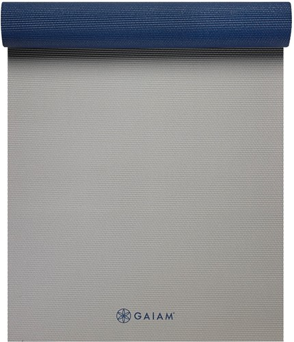 Gaiam 2-Color Yoga Mat - 6 mm - Icy Frost