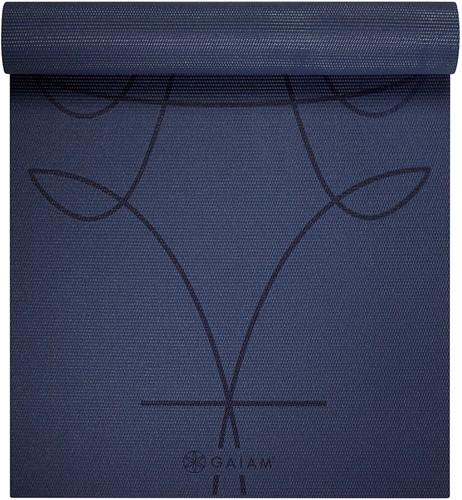 Gaiam Yoga Mat - 6 mm - Alignment Ink