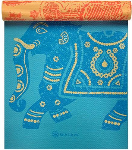 Gaiam Reversible Yoga Mat - 6 mm - Elephant