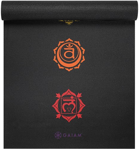 Gaiam Yoga Mat - 6 mm - Black Chakra