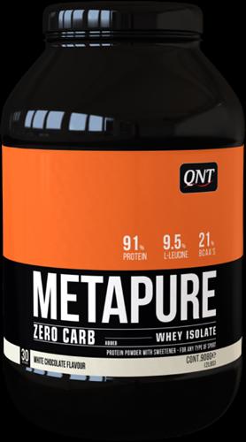 QNT Koolhydraatarm Zero Carb Metapure - 908g - White Chocolate