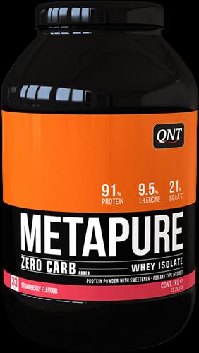 QNT Koolhydraatarm Zero Carb Metapure - 908g - Strawberry