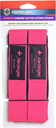 Harbinger Padded lifting strap roze-2