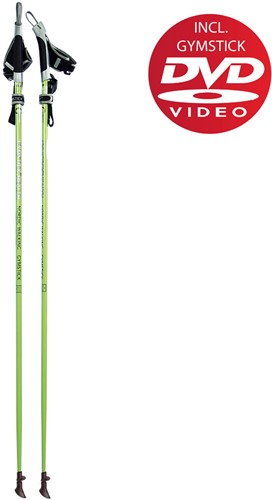 Gymstick health Nordic Walking stokken met DVD