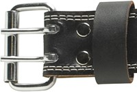 Harbinger 4 Inch Padded Leather Belt - Silver Printed-2