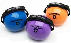 Harbinger Fitnessbal met Velcro binding om hand