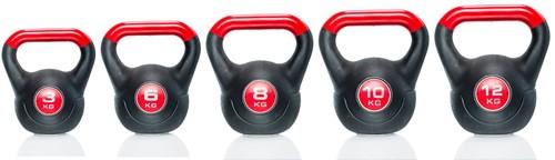 Gymstick Vinyl Kettlebell 12 kg met trainingsvideo