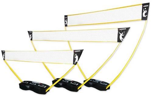 3-in-1 set - portable tennis, badminton en volleybal net
