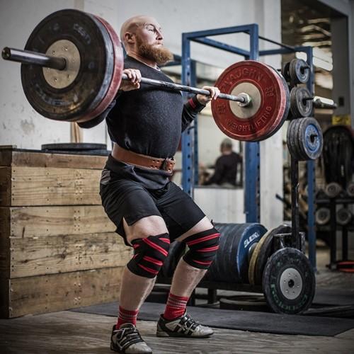 Harbinger Red line knee wraps lifestyle