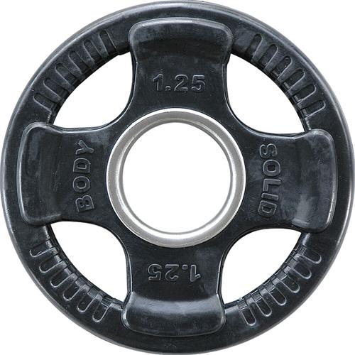 Body-Solid Olympische Rubber Halterschijf - 1,25kg