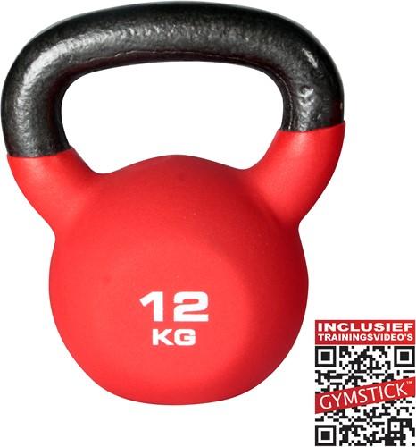 Kettlebell Pro 12 Kg Neopreen Met Trainingsvideo