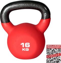 Kettlebell Pro 16 Kg Neopreen Met Trainingsvideo's