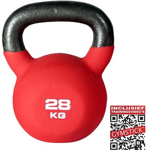 Kettlebell Pro 28 Kg Neopreen Met Trainingsvideo