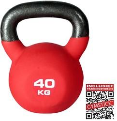 Kettlebell Pro 40 Kg Neopreen Met Trainingsvideo's - Licht beschadigd