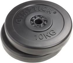 Gymstick vinyl schijven 2 x 10 kg 30 mm - Outlet - Licht beschadigd