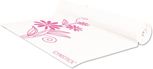 Gymstick emotion exercise mat pink/white - Met Draagband En Trainingsvideo