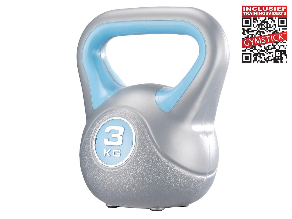 Gymstick kettlebell (3 kg) + workout DVD