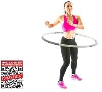 Gymstick 1.2 kg fitness hoela hoep met trainingsvideos-2