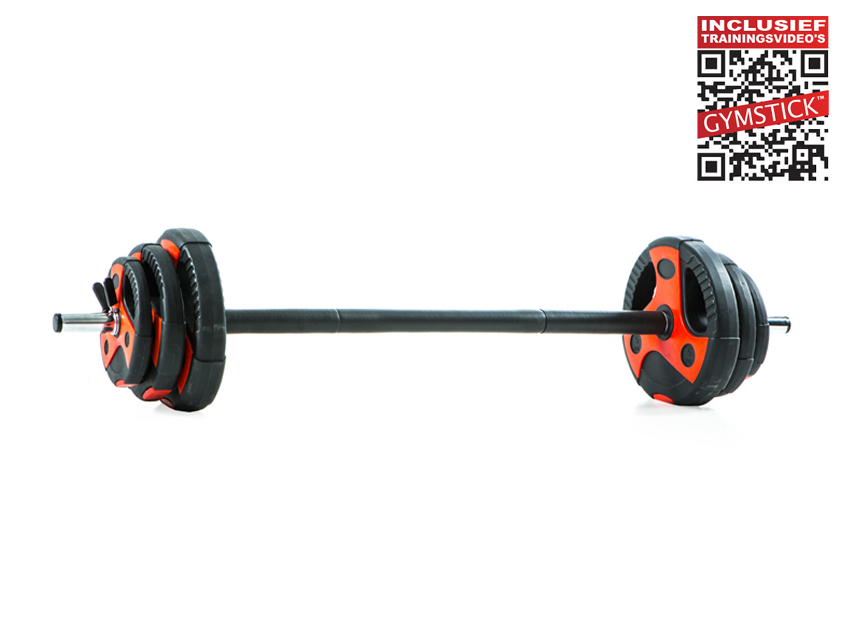 Gymstick pumpset (20 kg) + workout DVD