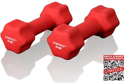 Neopreen Dumbell Set 2 Kg met Trainingsvideo's