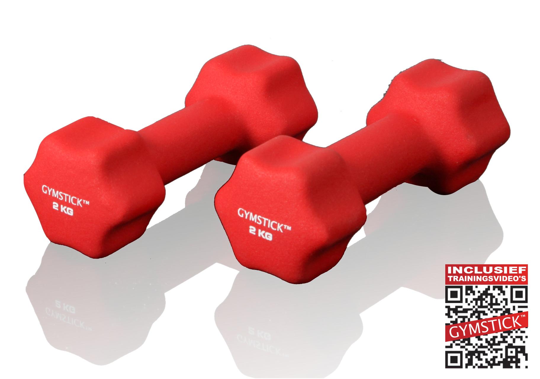 Gymstick dumbbell set (2 kg) + workout DVD