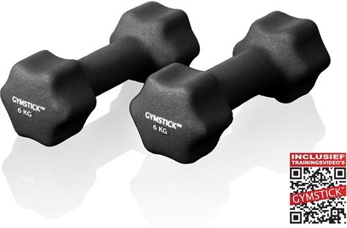 Gymstick Neopreen Dumbell Set 2x 6kg - Verpakking beschadigd
