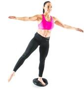 Gymstick balanskussen/wiebelkussen met trainingsvideo