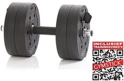 Gymstick Active Vinyl Dumbbell Set - 10kg - Met Online Trainingsvideo's