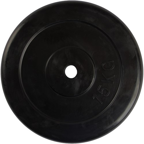 VirtuFit Gietijzeren Halterschijf - Halter gewicht - 30 mm - 15 kg - Zwart