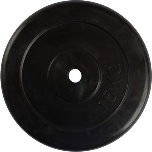 VirtuFit Rubberen Halterschijf - Halter gewicht - 30 mm - 15 kg - Verpakking beschadigd