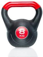 Gymstick Vinyl Kettlebell 8 Kg met trainingsvideo