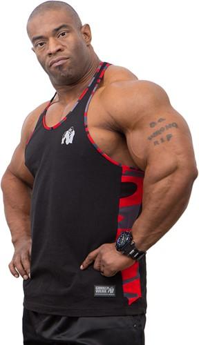 Gorilla Wear Sacramento Camo Mesh Tank Top - Black/Red