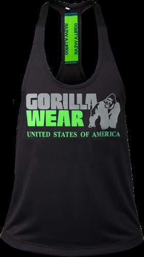 Gorilla Wear Nashville Tank Top - Zwart/Neon Groen