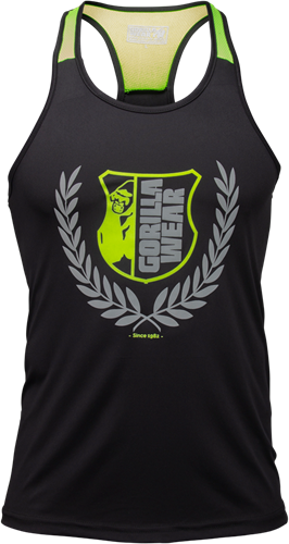 Gorilla Wear Lexington Tank Top - Zwart/Neon Groen